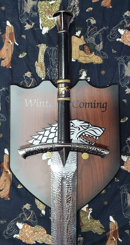 Game of Thrones Ice Sword of Eddard Stark Inspired Knightly Sword