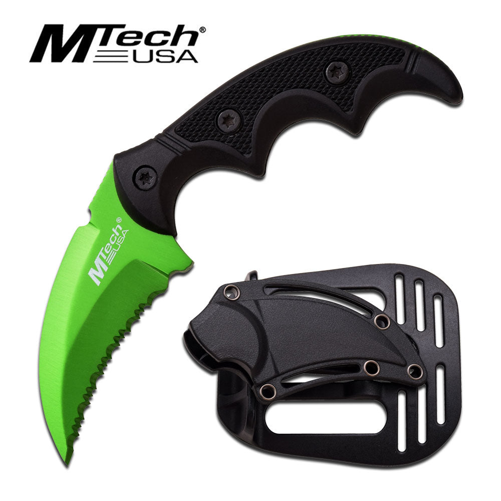 M-Tech Tactical Military Karambit Style Knife Green