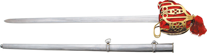 Scottish Brass Basket-Hilt Broadsword