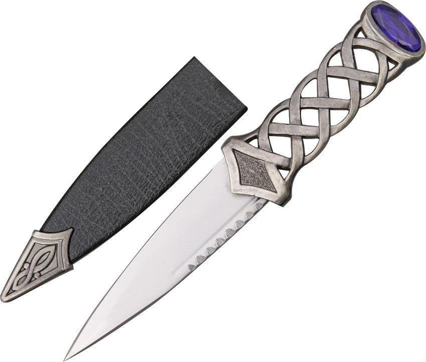 Scottish Sgian Dubh Boot Knife Celtic Knot Design