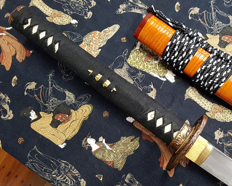 Tiger Japanese Katana Sword Tamahagane Steel Clay Tempered Live Blade