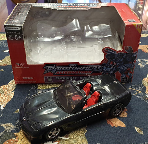Transformers Alternators Battle Ravage Chev Corvette Hasbro 1 / 24 Scale