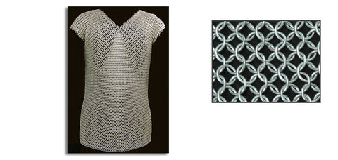 "Butted Chain Mail Sleeveless Shirt 50"" Chest, Suitable for Cosplay and Larp"
