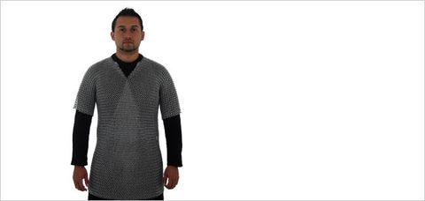 "Butted Chain Mail T-Shirt 48"" Chest, Suitable for Cosplay and Larp"