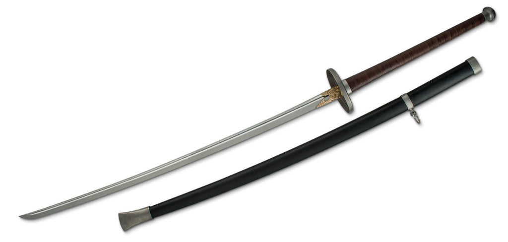 Miao Dao Chinese Long Sabre Sword, 5160 Spring Steel Blade