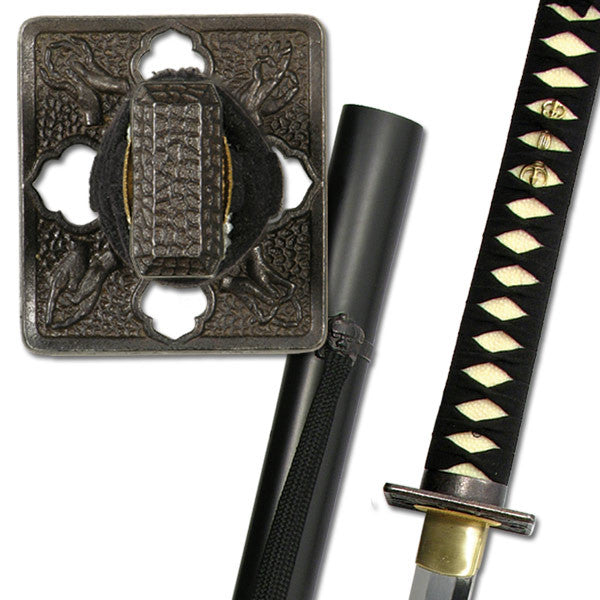 Practical Shinobi Ninja Sword White Same 1566 Clay Tempered Live Blade