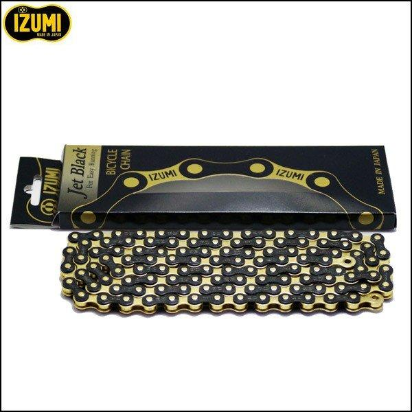 IZUMI Jet Black Bicycle Chain 1/2 x 1/8