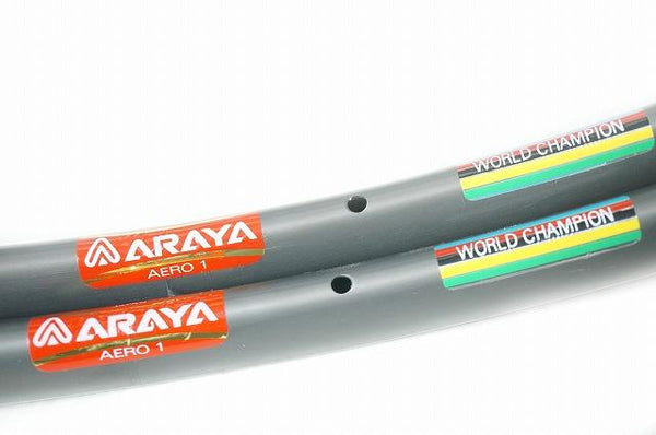 NOS ARAYA AERO 1 / ADX-1 Tubular 20H Rims -Pair- - alex's cycle