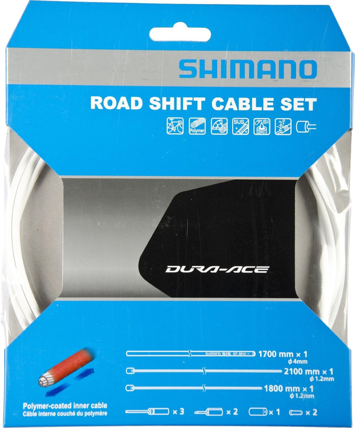 Shimano Dura-Ace Polymer Road Shift Cable Set Black Y63Z98910
