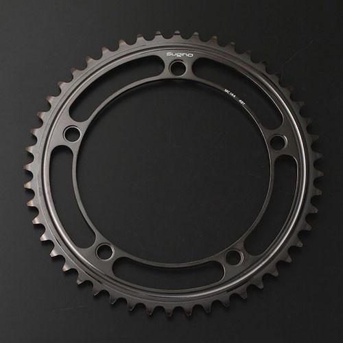 SUGINO SUPER MC144 Black S3 Coating Chainring - alex's cycle
