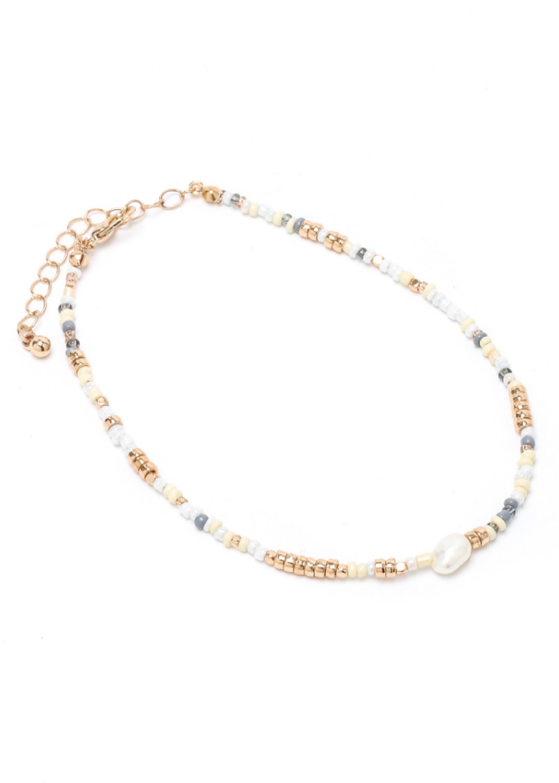 Seashore Beaded Anklet