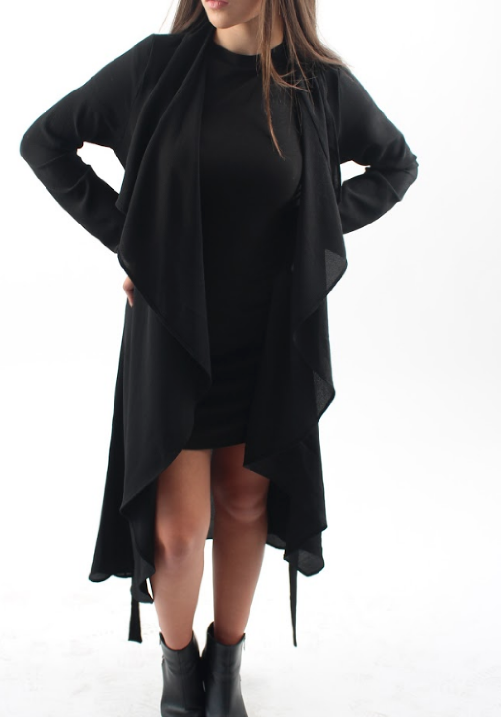 Sheer Essential Duster in Black