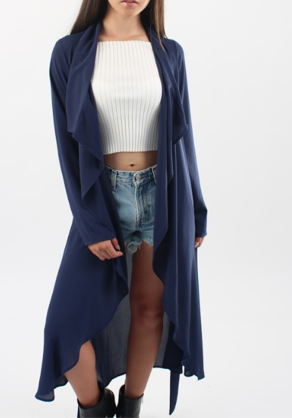 Sheer Essential Duster in Navy