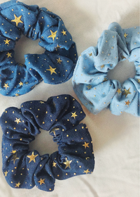 Superstar Denim Scrunchies