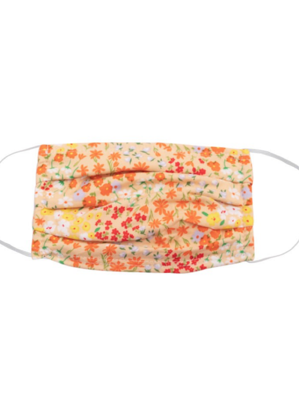 Fall Floral Print Face Mask