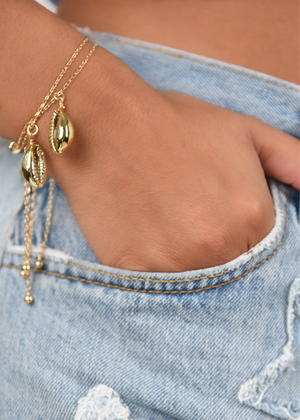 Golden Hour Shell Bracelet - shop dwntwn