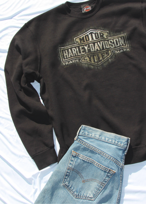 Vintage Harley Davidson Sweatshirt in Black - shop dwntwn