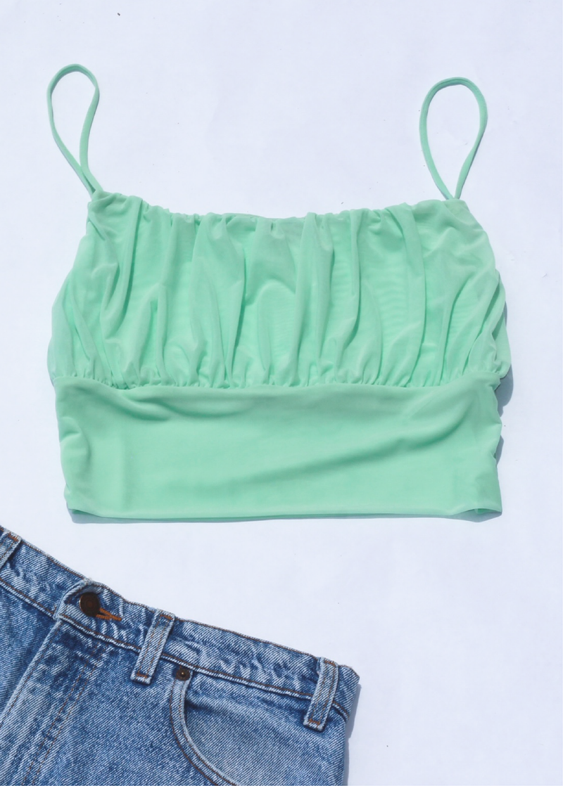 Minty Ruched Cami - shop dwntwn