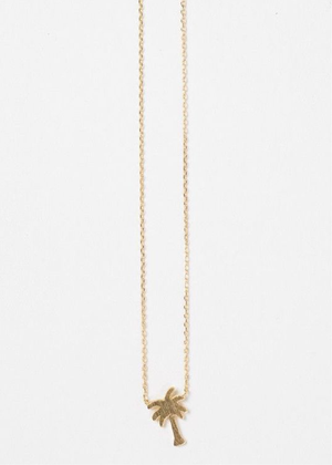 Palm Tree Paradise Necklace - shop dwntwn