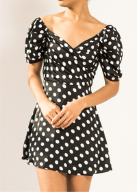 Dotted Doll Mini Dress