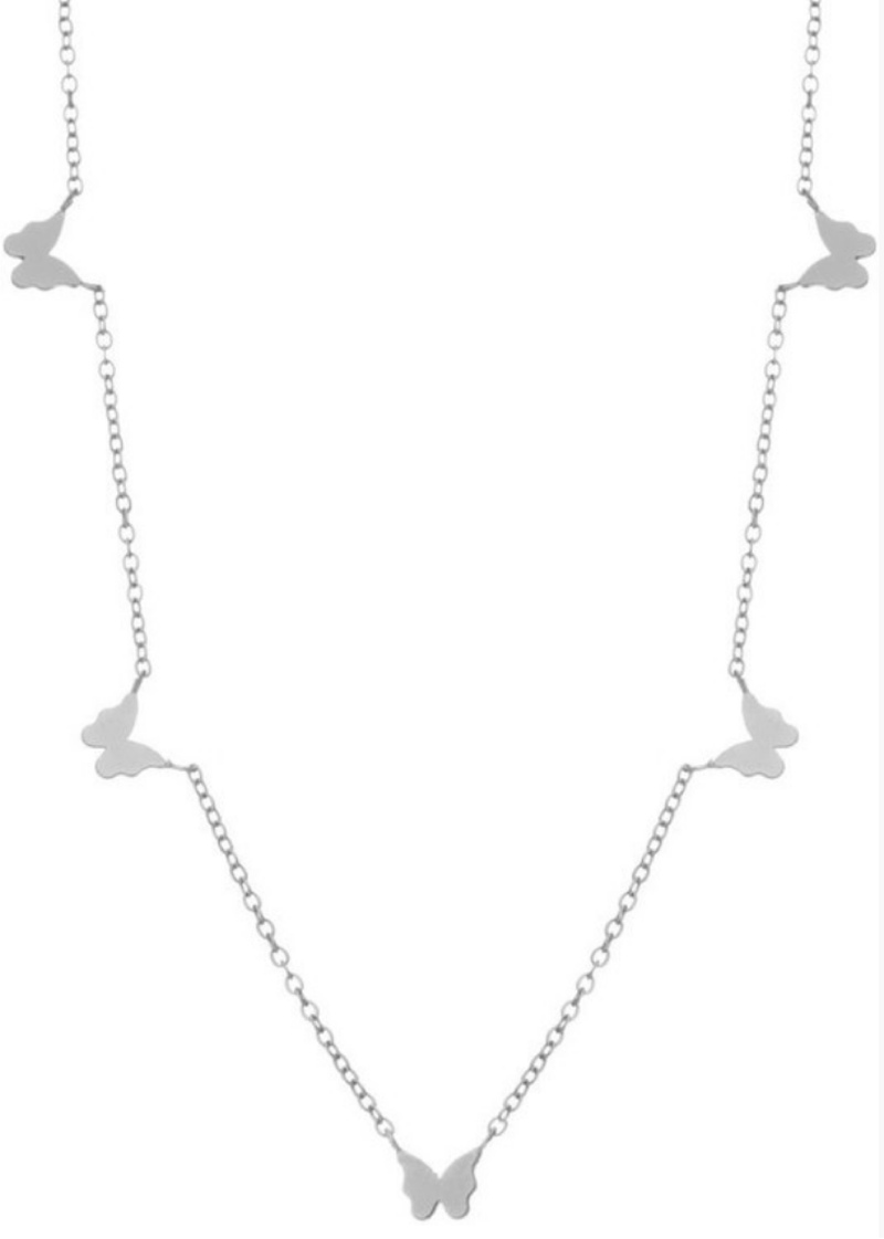 Silver Butterfly Necklace - shop dwntwn