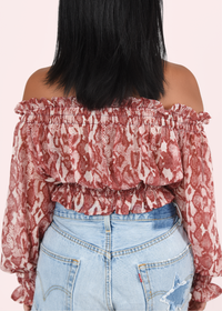 Pretty in Pink Off the Shoulder Top