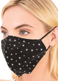Signature Star Print Face Mask