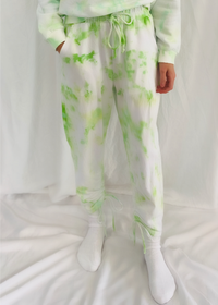 Time Out Tie Dye Sweatpants in Neon Green