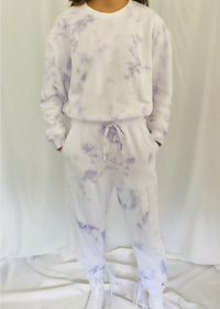 Time Out Tie Dye Sweatpants in Lavender