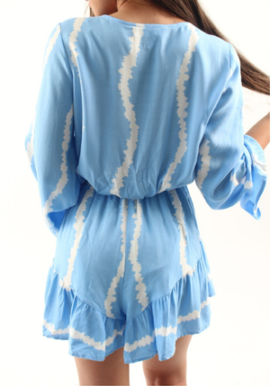 Groovy Romper in Sky Blue
