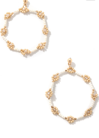 Fiore Earrings in White - shop dwntwn