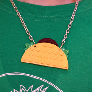 Lego Taco Necklace