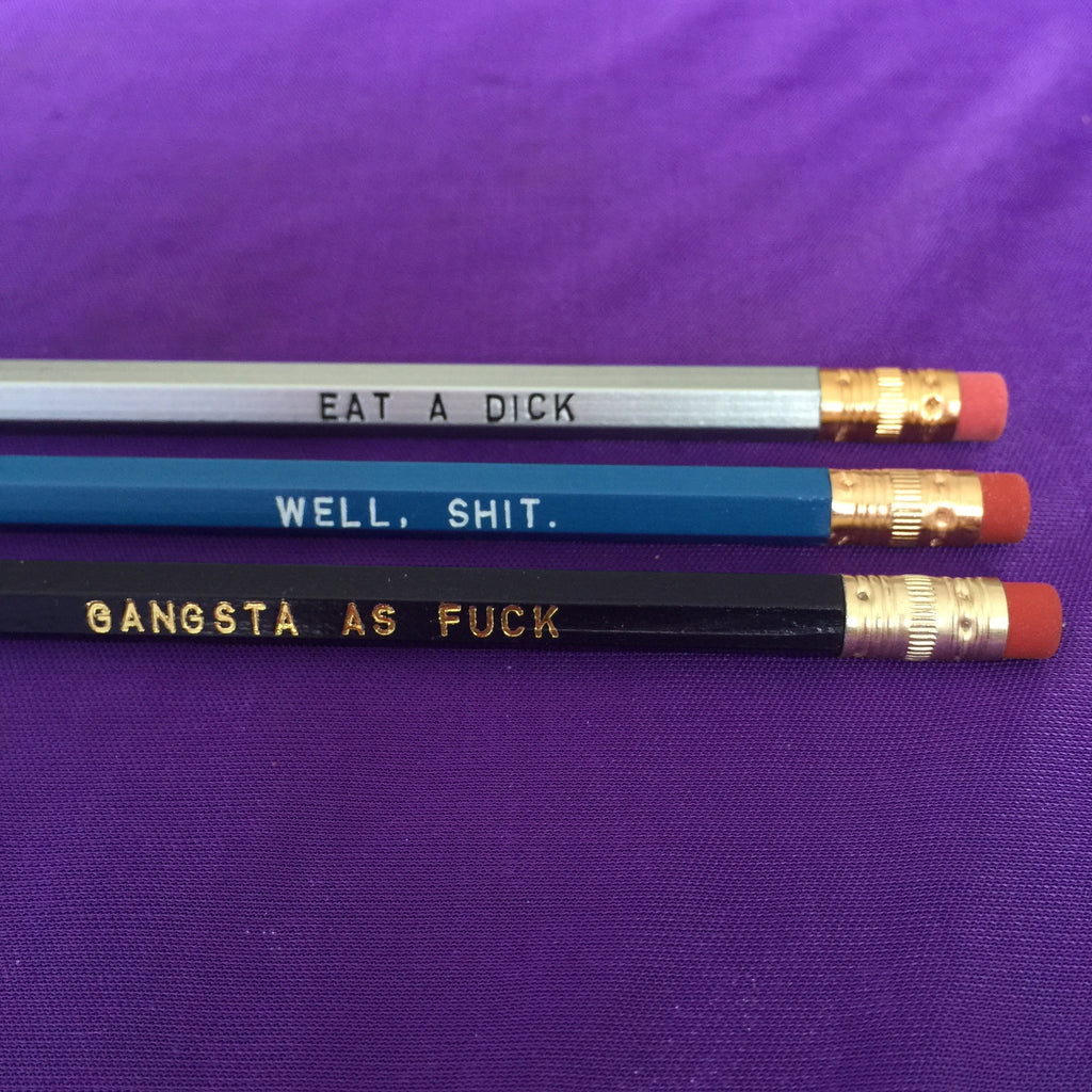 Sweary Pencils - Assorted Blue