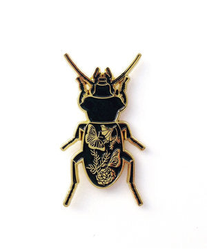 Black Beetle Pin
