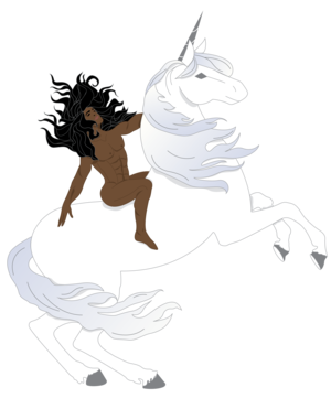 Man On Unicorn Sticker