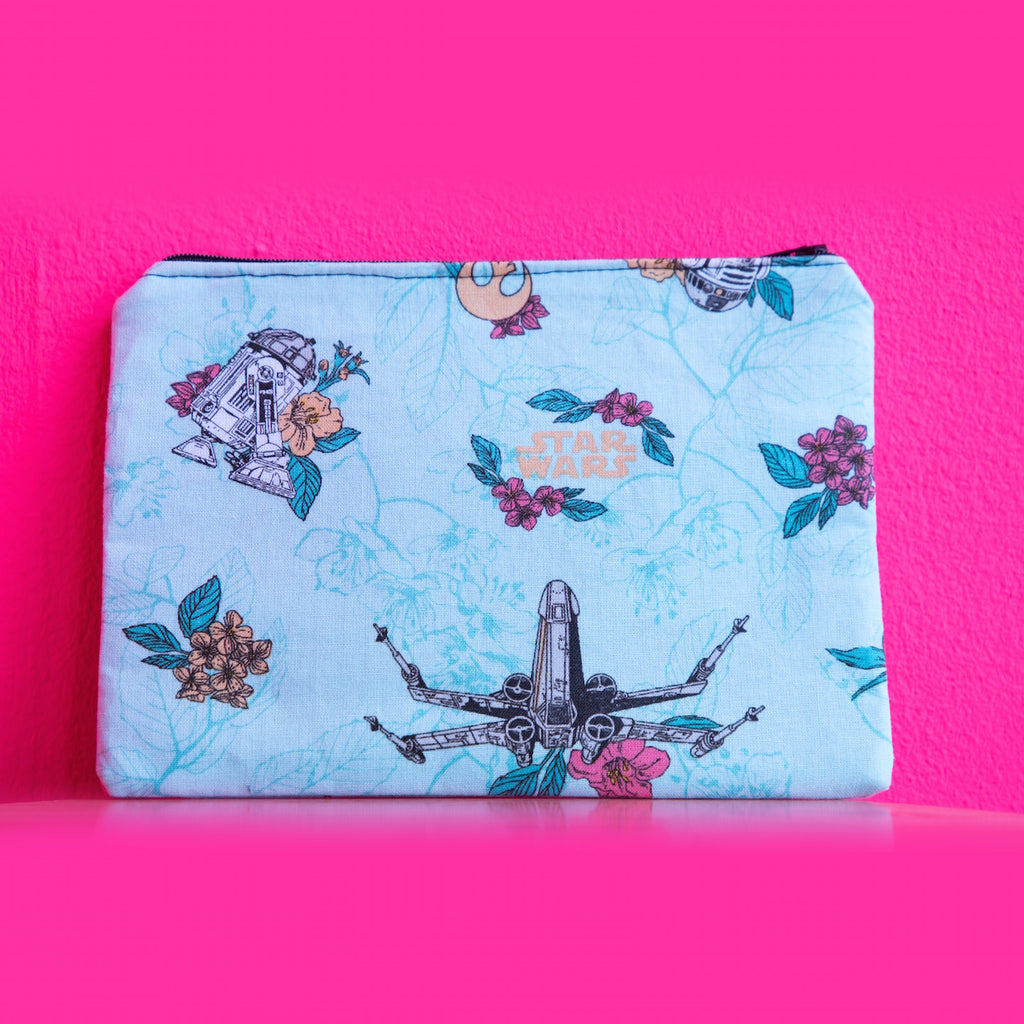 Star Wars Floral Print Pouch