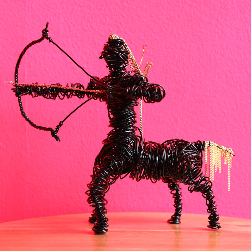 Sagittarius Wire Sculpture