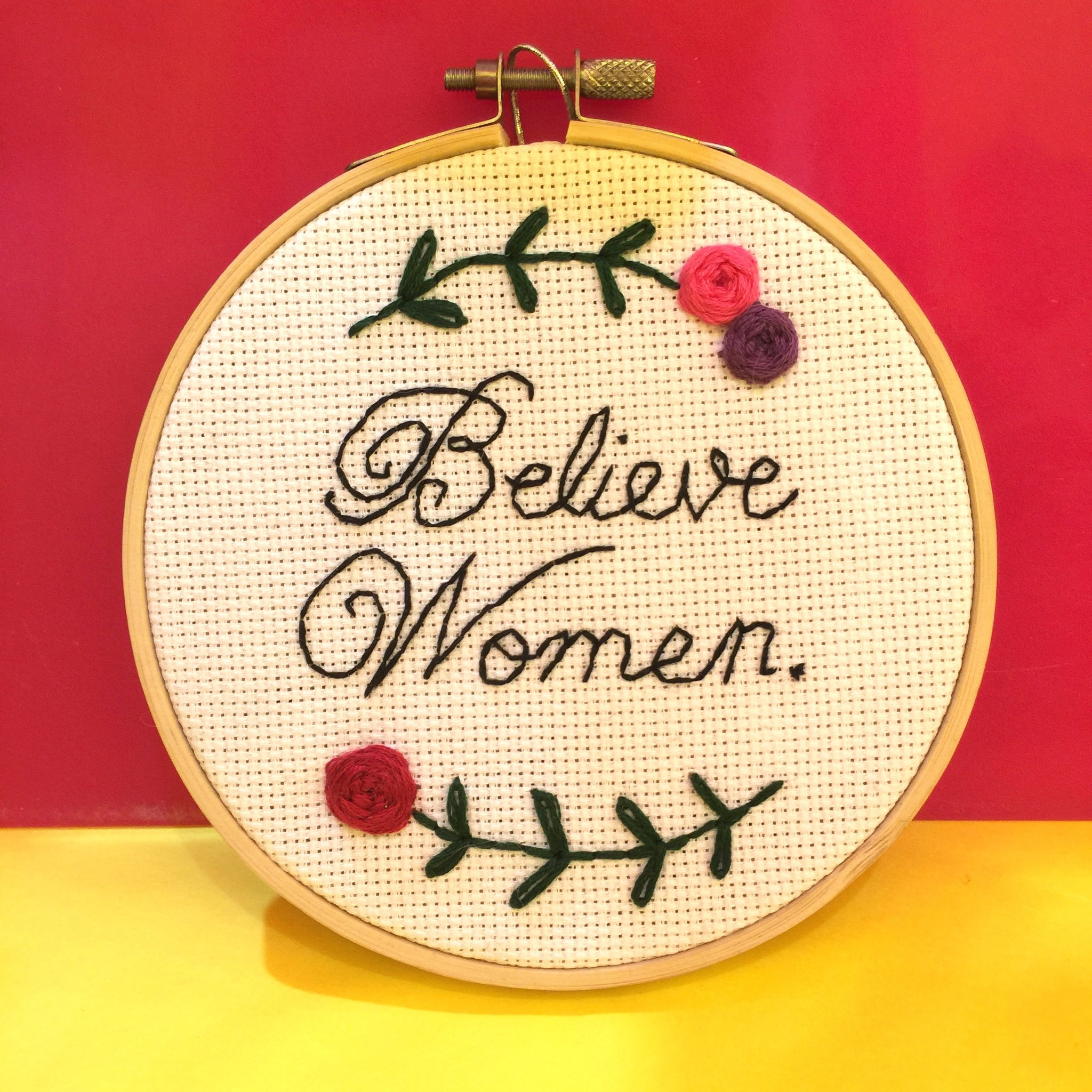 Believe Women Needlepoint