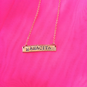 Mamacita - Stamped Necklace