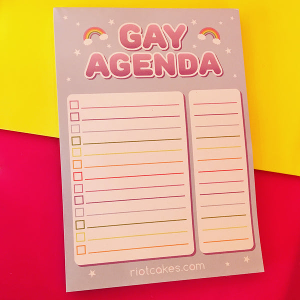 Gay Agenda Notepad