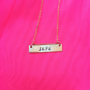 Jefe - Stamped Necklace