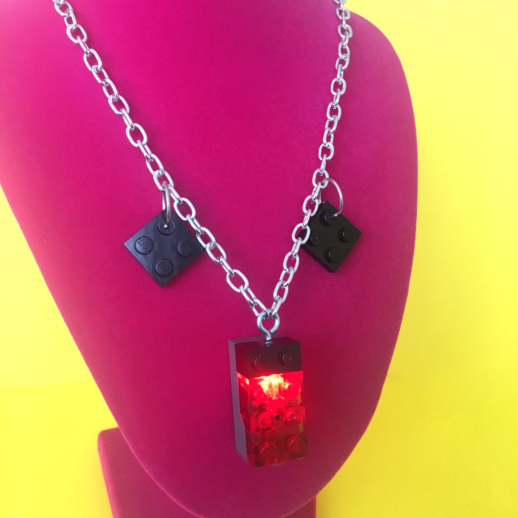 Light Up Lego Necklace