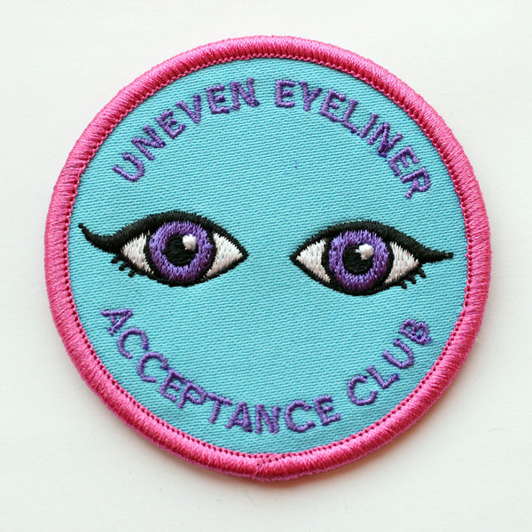 Uneven Eyeliner Acceptance Club Patch