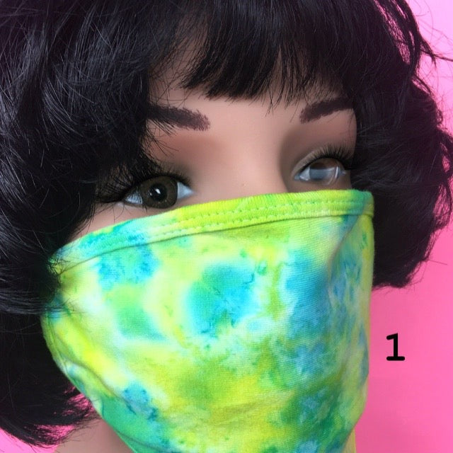 Yellow Tie Dye Face Covering