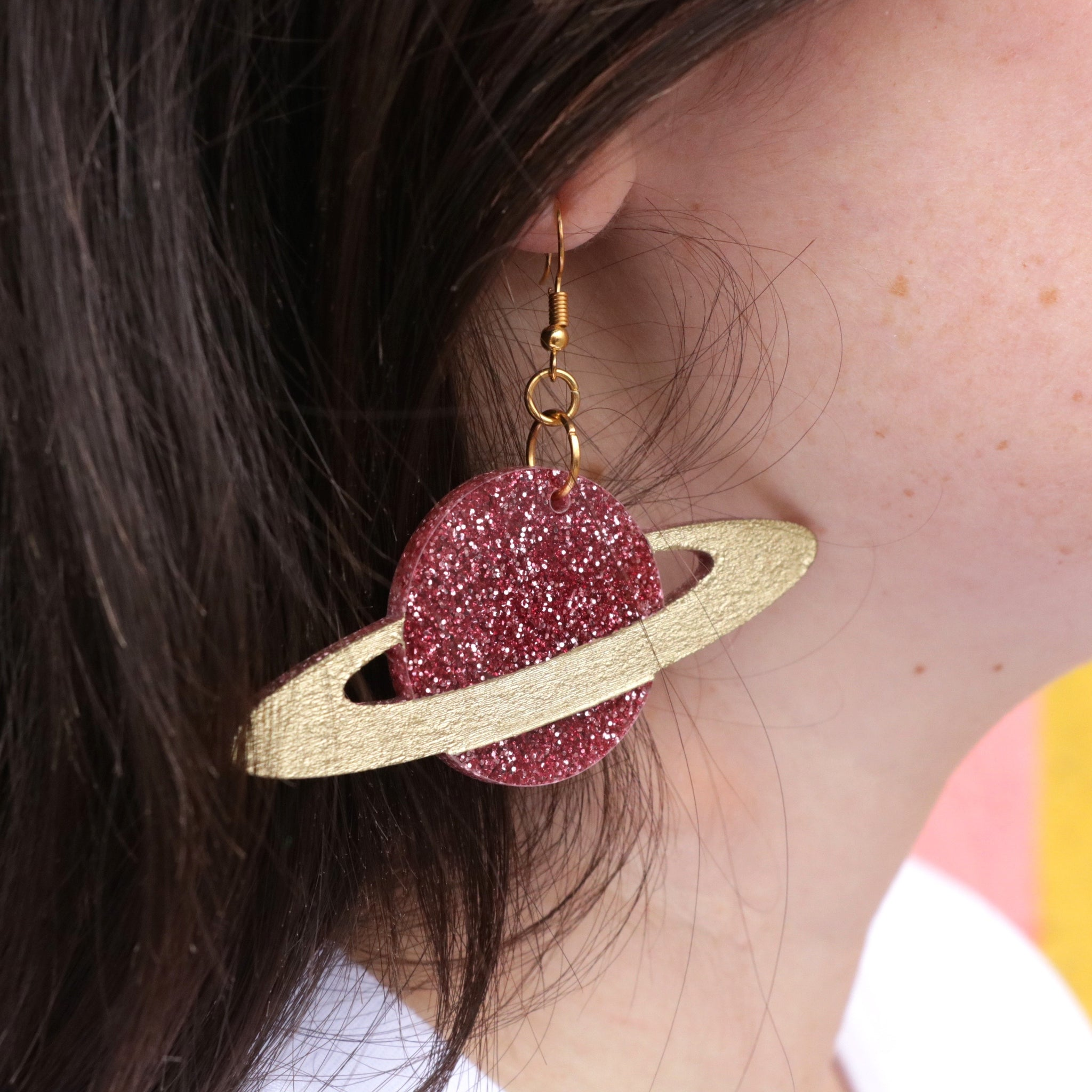 Saturn Glitter Earrings
