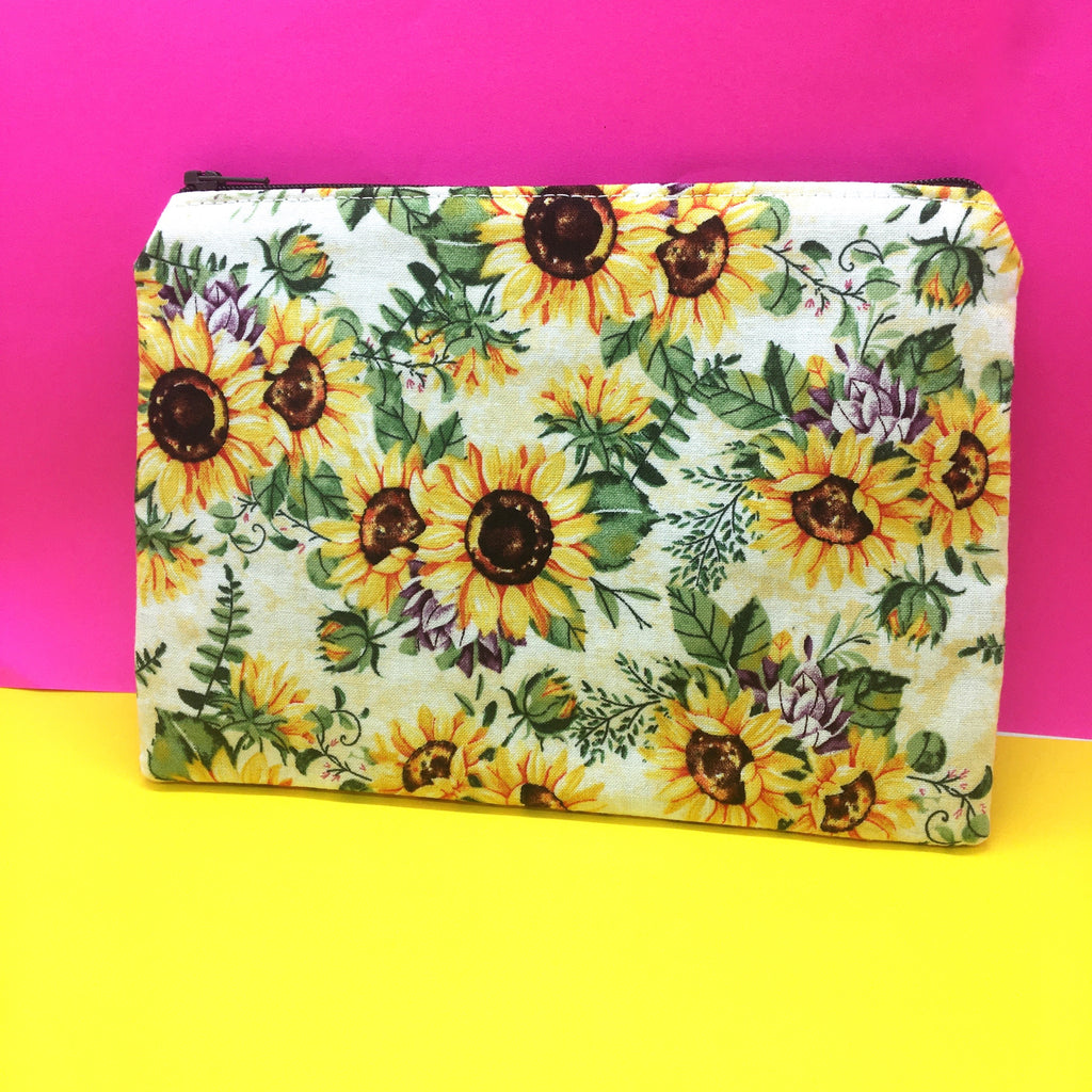 90's Style Sunflower Make-Up Pouch