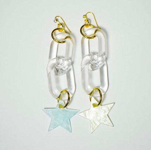 Chainlink w/ Stars Earrings