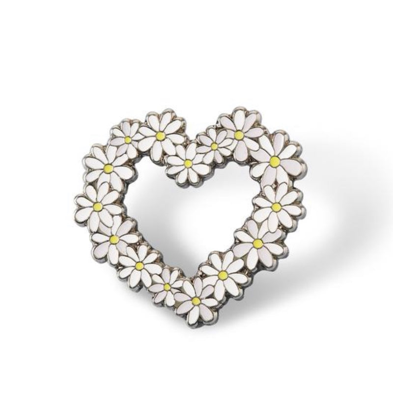 Daisy Heart Pin