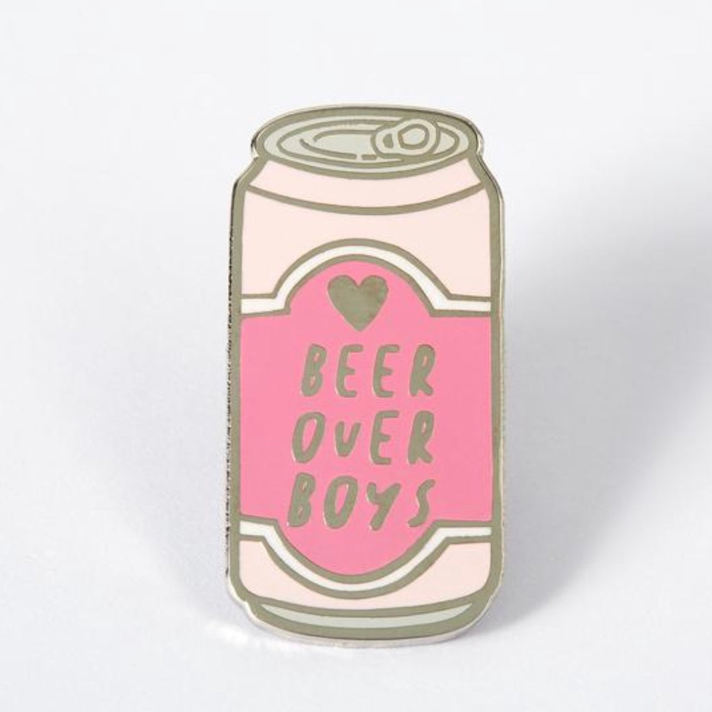 Beer Over Boys Pin