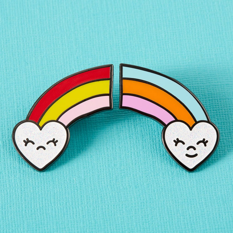 Happy Sad Rainbows Pin Set